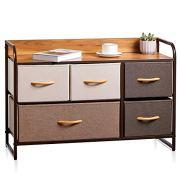 Kealive Drawer Dresser Storage Organizer 5-Drawers for Closet