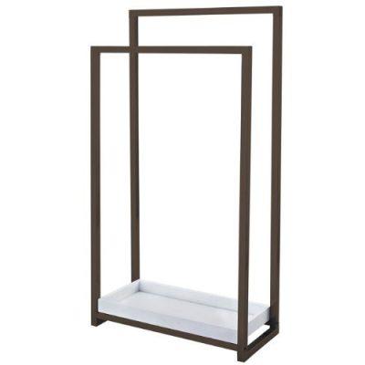 Kingston Brass Pedestal 2-Tier Steel Construction Towel Rack