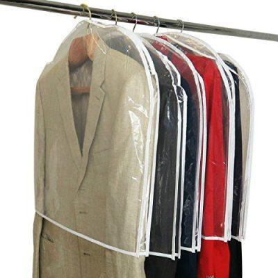HANGERWORLD Pack of 20 Large Clear Shoulder Covers