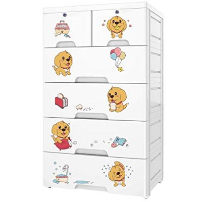 Nafenai Plastic Dresser 6 Drawers,Storage Cabinet Drawers Organizer