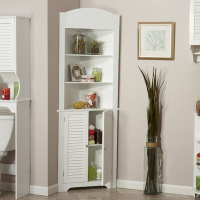 Ellsworth Corner Free Standing Linen Tower- With Contemporary Style