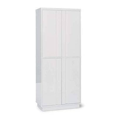 Home Styles Linear White Pantry Crafted from Poplar Solids