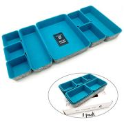 Welaxy Office Drawer Organizers Shallow Trays Drawers dividers Felt Storage