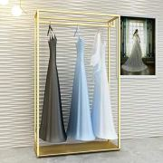 FURVOKIA Heavy Duty Metal Garment Rack,Wedding Dress