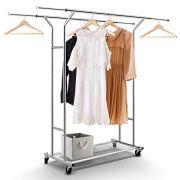 Simple Trending Double Rail Clothing Garment Rack