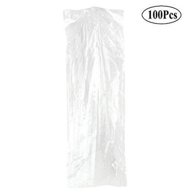 100 Pack Garment Bag, Transparent Clothing Dust Cover