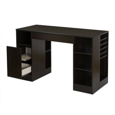 South Shore Crea Craft Table with Open and Closed Storage
