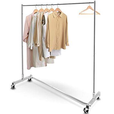 Simple Trending Industrial Grade Z-Base Clothes Garment Rack