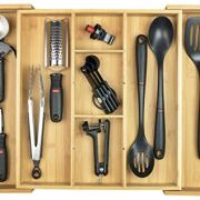 KitchenEdge Adjustable Kitchen Drawer Organizer for Utensils and Junk