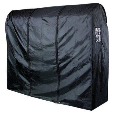 HANGERWORLD Black 6ft Waterpoof Nylon Zip Clothes Rail Cover