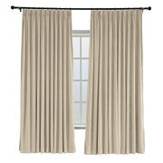 ChadMade Pinch Pleated 72W x 84L Blackout Lined Velvet Curtain Drapery Panel
