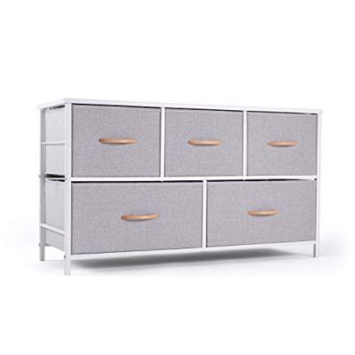 ROMOON Dresser Organizer with 5 Drawers, Fabric Storage Drawer Unit