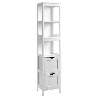VASAGLE Bathroom Tall Cabinet, Linen Tower, Floor Storage Cupboard
