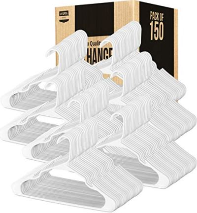 Utopia Home Plastic Hangers for Clothes Space Saving Notched Hangers