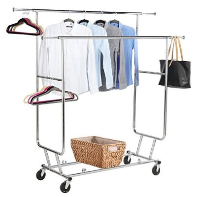 Yaheetech Commercial Grade Garment Rack Rolling Collapsible Rack