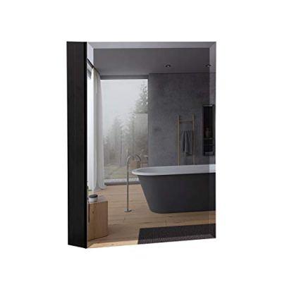 """B&C 20""""x26""""Aluminum Medicine Cabinet with Mirror Color Black"""