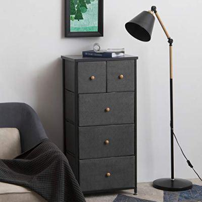 5-Fabric Drawer Dresser/Storage Chest Organizer with 4-Tier Tower Unit