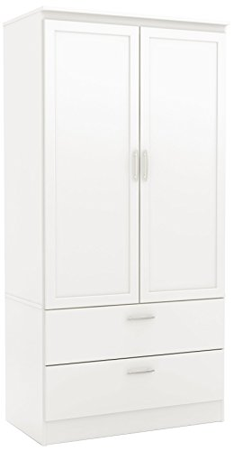 South Shore 2-Door Wardrobe Armoire with Adjustable Shelves and Storage