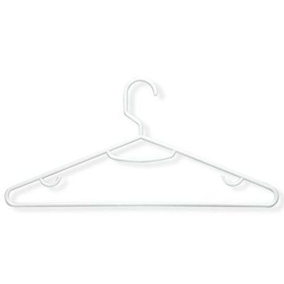 Honey-Can-Do Brilliant Plastic Hangers (60 Pack), White