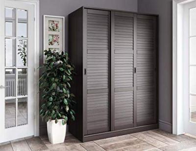 100% Solid Wood 3-Sliding Door Wardrobe/Armoire/Closet