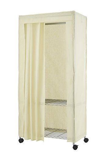 BestOffice Heavy Duty Clothes Hanger Rolling Garment Rack