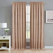 NICETOWN Room Darkening Velvet Curtains - Rod Pocket Super Soft Thick Panels