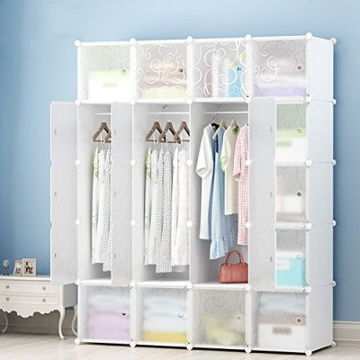 MEGAFUTURE DIY Portable Wardrobe Clothes Closet Modular Storage Organizer