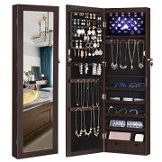 SONGMICS 6 LEDs Jewelry Cabinet Lockable Wall/Door Mounted Jewelry