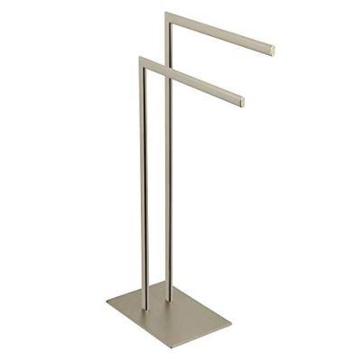 Kingston Brass Edenscape Pedestal Dual Towel Rack Brushed Nickel