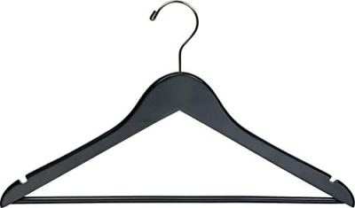 The Great American Hanger Company Black Wood Suit Hanger