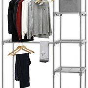 Simple Houseware Freestanding Clothes Garment Organizer Closet