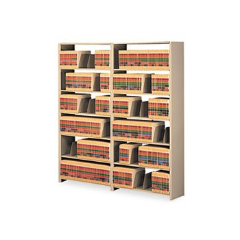 Tennsco Snap-Together Six-Shelf Closed Add-On, Steel