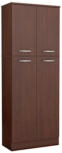 South Shore 4-Door Storage Pantry with Adjustable Shelves