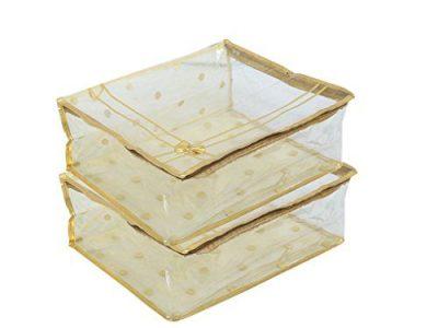 Mufaddal Traders 12 PC Oneside Clear Plastic Clothes Sari Saree Garment Storage