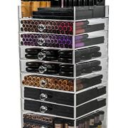 N2 Makeup Co Acrylic Makeup Organizer Cube, 8 Drawers Storage Box