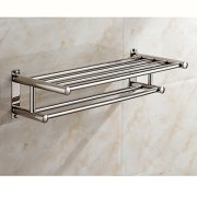 Wall-Mounted Multi-Function Towel Bar,Bathroom Towel Rack
