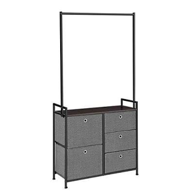 SONGMICS Fabric Dresser Drawer with Clothes Rack