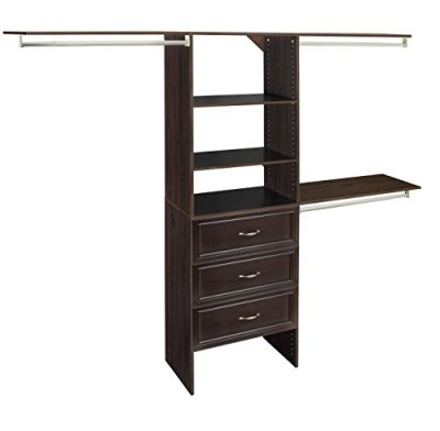 ClosetMaid SuiteSymphony Closet Organizer with Shelves and 3 Drawers