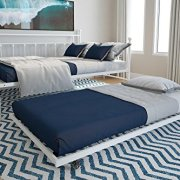 DHP Manila Metal Daybed and Trundle, Full Size Daybed and Twin Size Trundle