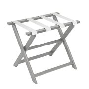 Gate House Furniture Light Grey Eco-Poly Folding Luggage Rack