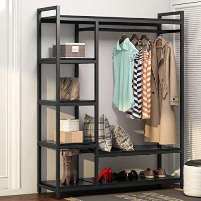 LITTLE TREE Free -Standing Closet Organizer,Heavy Duty Closet Storage