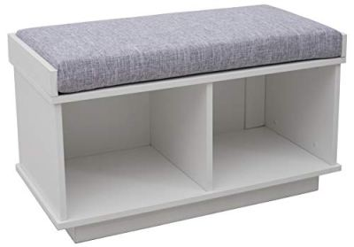 Ravenna Home Reeder Upholstered Entryway Cushioned Storage Bench