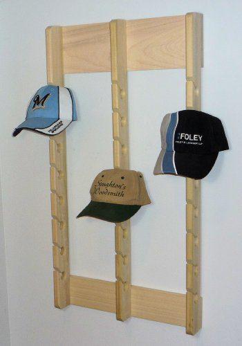 Stoughton's Woodsmith Economy Triple Poplar Baseball Cap Rack