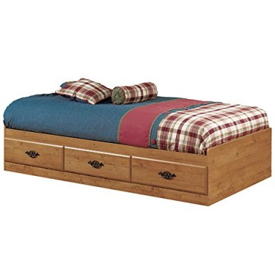 South Shore Prairie Collection Twin Bed with Storage - Platform Bed