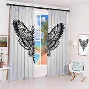 hengshu Skull Sun Protection Insulated Bedroom Living Room Curtain