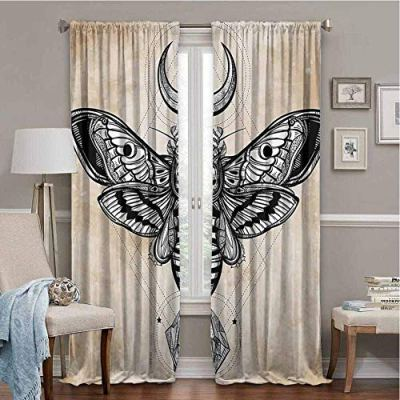 SONGDAYONE Outdoor Curtain Fantasy House Decor Privacy Protection
