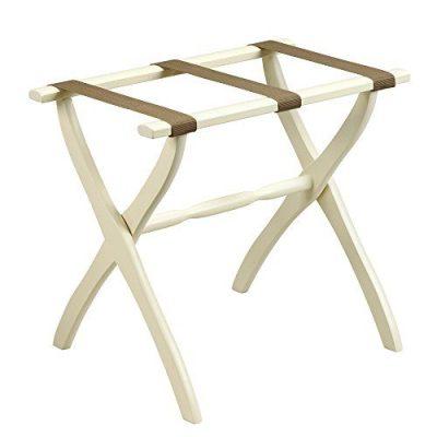 Fine Folding Furniture Ivory Contour Leg Luggage Rack