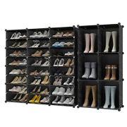 KOUSI 72-Pairs Shoe Organizer Shoe Rack Shoe Tower Storage Cabinet Storage