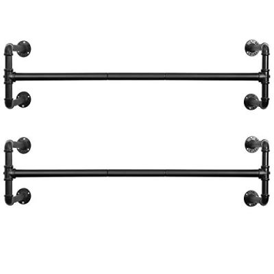 SONGMICS Wall-Mounted Clothes Rack, Set of 2