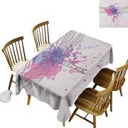 DONEECKL Dragonfly Colorful Tablecloth Protection Table Grunge Street Art
